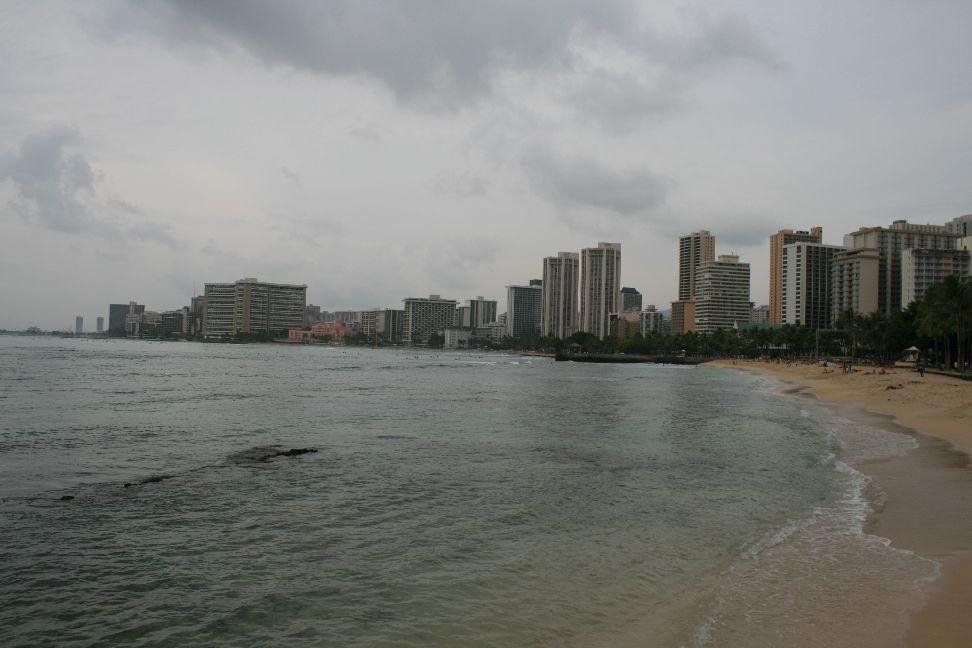 Blick auf den Waikiki- Beach